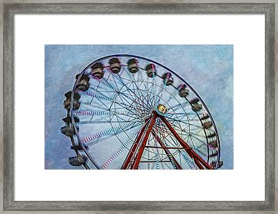 Ferris Wheel Framed Print by Susan Candelario