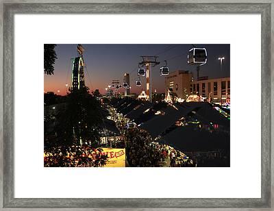 Ferris Wheel View Framed Print by Snow  White