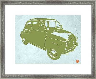 Fiat 500 Framed Print by Naxart Studio