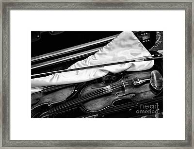 Fiddles And Bows Framed Print by Wilma  Birdwell
