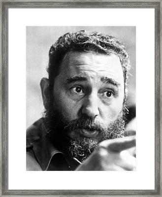 Fidel Castro, Circa 1977 Framed Print by Everett