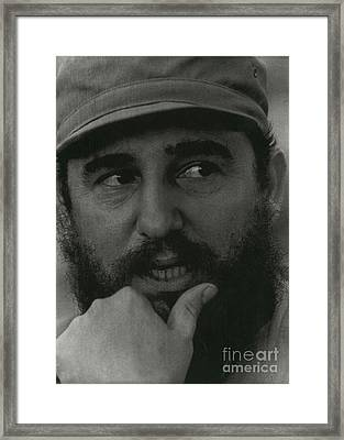 Fidel Castro, Cuban Revolutionary Framed Print by Photo Researchers