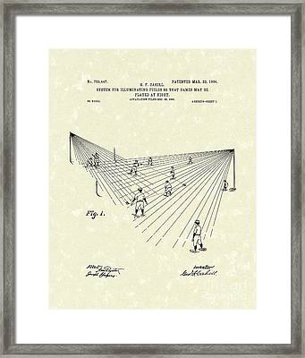 Field Lighting 1904 Patent Art Framed Print by Prior Art Design