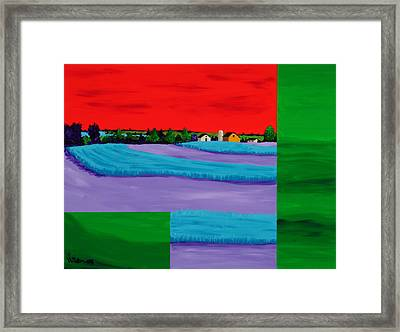 Fields Of Green Framed Print by Randall Weidner