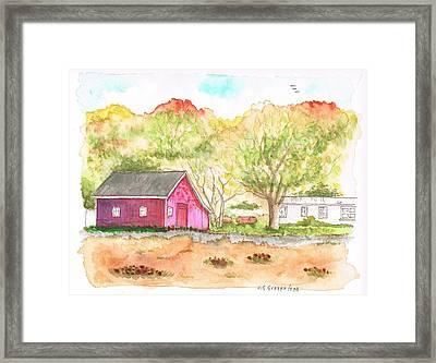Fieldstone Farm In Julian - California Framed Print by Carlos G Groppa