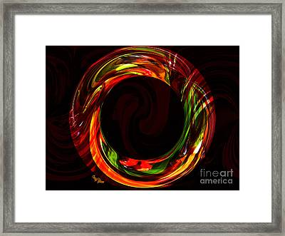 Fiery Circle Framed Print by Cheryl Young
