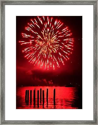 Fiery Fourth Framed Print by Peter Mooyman