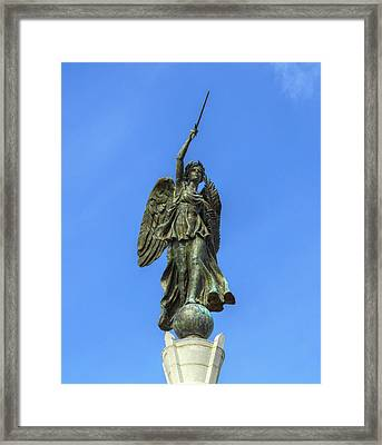 Figure Of Winged Victory At Gettysburg Framed Print by Randy Steele