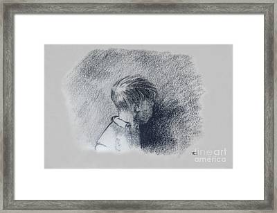 Figure Study Framed Print by Thomas Luca