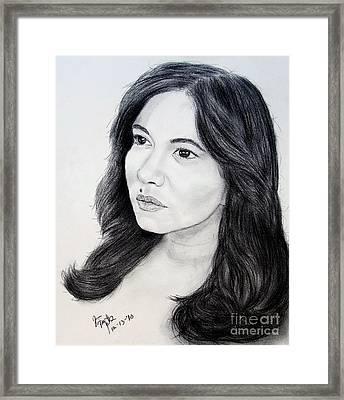 Filipina Beauty And Actress Lorna Tolentino Framed Print by Jim Fitzpatrick