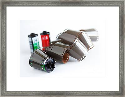 Film And Canisters Framed Print by Carlos Caetano