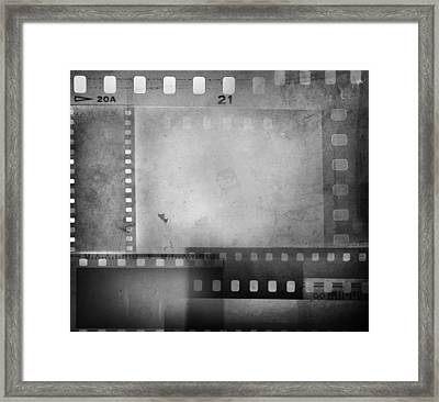 Film Negatives  Framed Print by Les Cunliffe