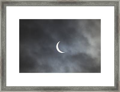 Finacrescent Prior To Total Phase Of Solar Eclipse Framed Print by Sue Flood