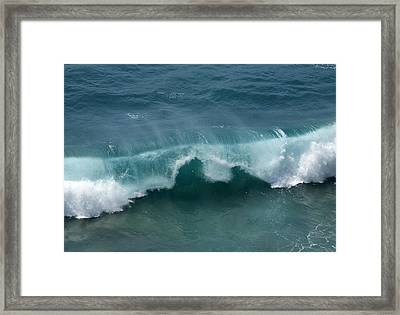 Final Collapse Of A Wave Framed Print by Gregory Scott