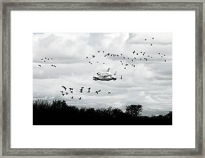 Final Flight Of The Enterprise Framed Print by Tolga Cetin