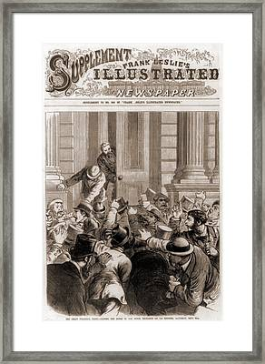Financial Panic Of 1873.  Closing Framed Print by Everett