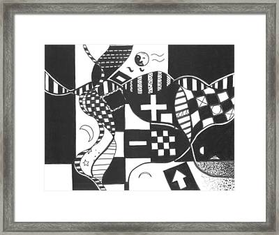 Finding The One Big Plus Framed Print by Helena Tiainen