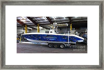 Fine Art Boat Wraps Framed Print by Carey Chen