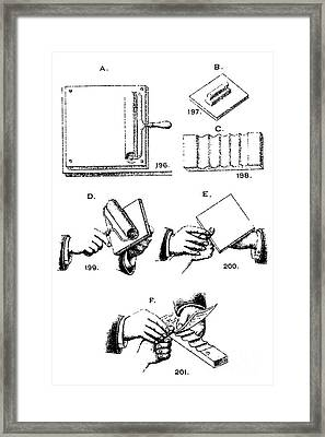 Fingerprinting Instructions, Circa 1900 Framed Print by Science Source