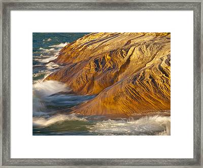 Fingers Into The Lake Framed Print by Cindy Lindow