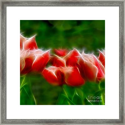 Fire And Ice Fractal Panel 2 Framed Print by Peter Piatt