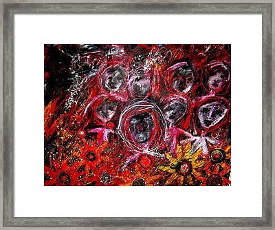 Fire Demons Framed Print by Karen Elzinga