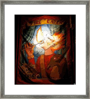 Fire Eater Framed Print by David Lee Thompson