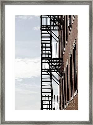 Fire Escape In Boston Framed Print by Elena Elisseeva