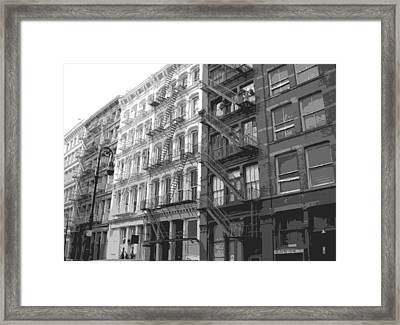 Fire Escapes Bw6 Framed Print by Scott Kelley
