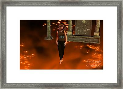 Fire Lady Framed Print by Stanley Morganstein