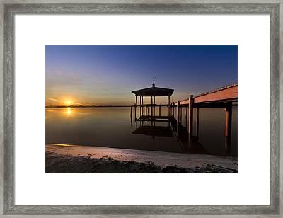 Fire Lake Framed Print by Debra and Dave Vanderlaan