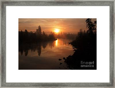 Fire On The Mountain Framed Print by Beve Brown-Clark Photography