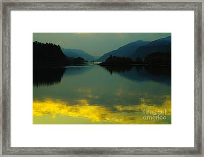 Fire On The Water  Framed Print by Jeff Swan