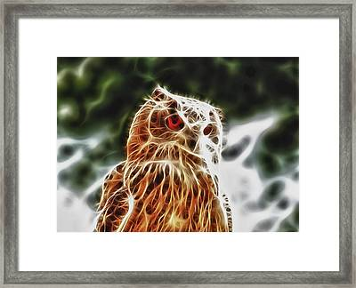 Fire Owl Framed Print by Tilly Williams