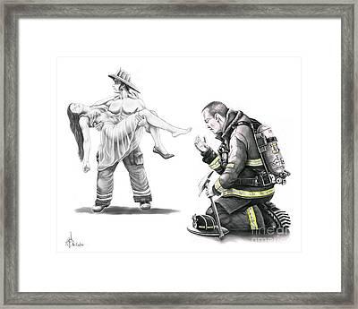 Fire Rescue Framed Print by Murphy Elliott