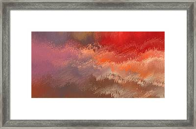 Fire Sky Framed Print by Wally Boggus