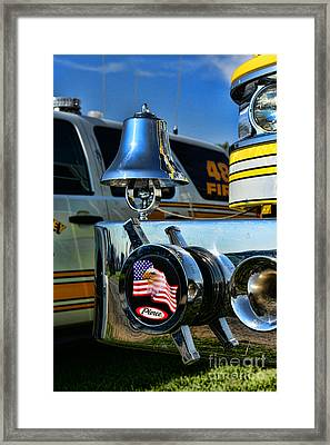 Fire Truck Bell Framed Print by Paul Ward