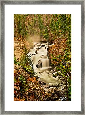 Firehole Falls Le Framed Print by Greg Norrell
