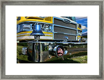 Fireman - Pierce Fire Truck Framed Print by Paul Ward