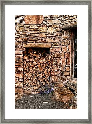 Firewood Framed Print by Tom Prendergast