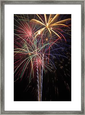 Fireworks In Celebration  Framed Print by Garry Gay