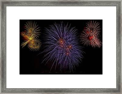 Fireworks Framed Print by Joana Kruse