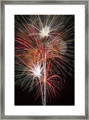 Fireworks Light Up The Night Framed Print by Garry Gay