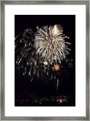 Fireworks Framed Print by Michelle Calkins