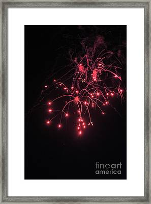 Fireworks Oooh 2 Framed Print by Michael Flood