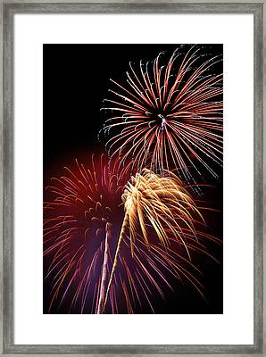 Fireworks Wixom 3 Framed Print by Michael Peychich