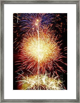 Fireworks_1591 Framed Print by Michael Peychich
