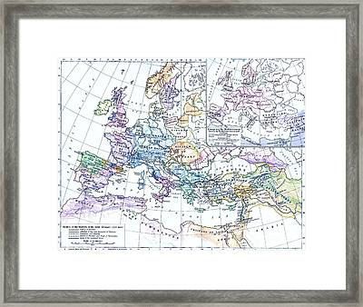 First Crusade Map  Framed Print by Pg Reproductions