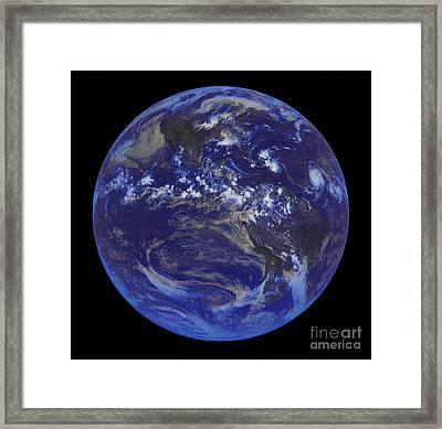 First Goes Satellite Image Of Earth 2008 Framed Print by Padre Art