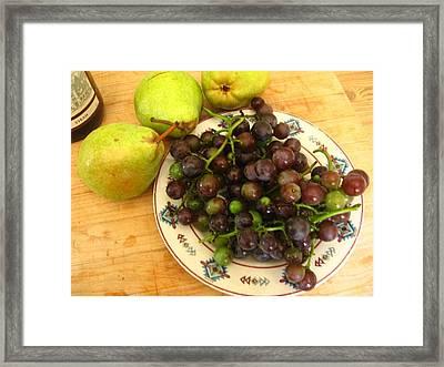 First Harvest Framed Print by Deb Martin-Webster